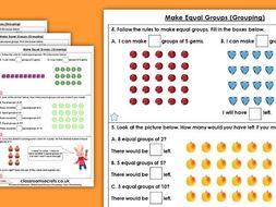 Year 1 Make Equal Groups (Grouping) Summer Block 1 Maths Homework Extension