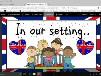 British values display In our Setting version