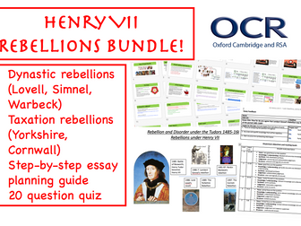 OCR Henry VII Rebellions BUNDLE