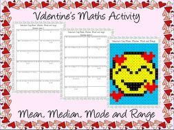 Valentine's day maths Averages