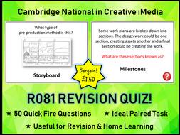 R081 iMedia Exam Revision Quiz (50 Questions)
