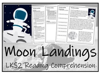 LKS2 History - Moon Landings Reading Comprehension Activity