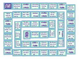 Word Pairs or Binomials Board Game
