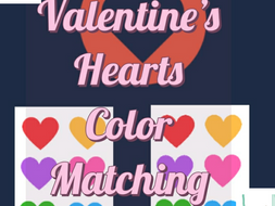 Color Matching Game Valentines Hearts