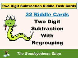 Two-Digit Subtraction Maths Task Cards