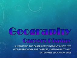 Geography Careers Display
