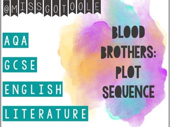 Blood Brothers: Plot Sequence / Sort Activity