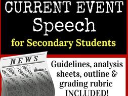 Current Event Speech, Secondary Ed.