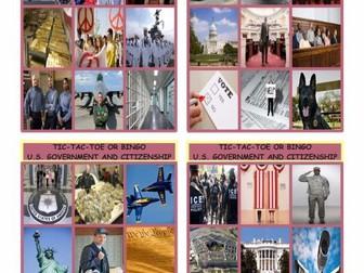 U.S. Government & Citizenship Tic-Tac-Toe or Bingo