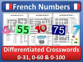 French Numbers Crosswords
