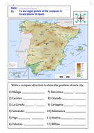 Using-8-points-of-a-compass-to-locate-places-in-Spain---MA-activity.doc