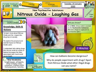 Drugs + Nitrous Oxide – Laughing Gas NPS