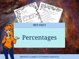 Percentages in Finance Info Sheet for Stage 5 Maths