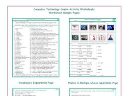Computer Technology Combo Activity Worksheets