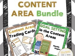 Content Area Bundle: Trading Cards, Assessment, and Goal Setting Templates