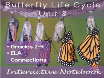 Butterfly Life Cycle Unit and Interactive Notebook