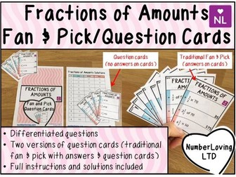Fractions of Amounts (Fan and Pick Cards)