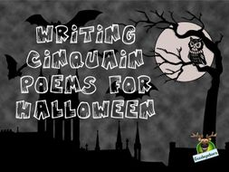 Halloween Writing Idea -  Spine-Chilling Cinquain Poems