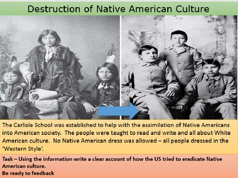How the lives of Native Americans changed 1877 - 1900