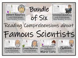 UKS2 Science - Famous Scientists Reading Comprehension Bundle