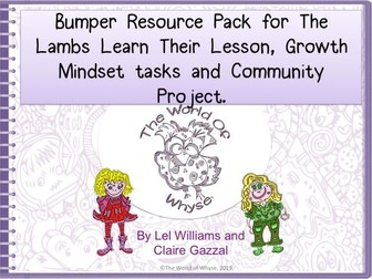 Bumper Book 3 Resource Pack for The Lambs Learn Their Lesson, Growth Mindset & Community.