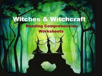 Witches & Witchcraft - Reading Comprehension Worksheets