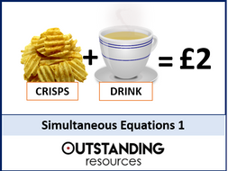 Simultaneous Equations 1 - Elimination or Subtraction Method (+ worksheet)