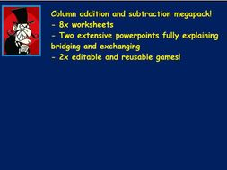 Column addition and subtraction Year 3 megabundle