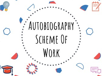 Autobiography scheme of work #autobiography #scheme #GCSE #English
