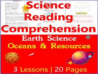Earth Science Reading   Ocean Exploration & Natural Resources   Grade 5-6