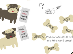 Pseudo Word Dog Bones Activity (Phonics for EYFS and KS1)