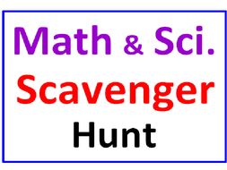 Math and Science SCAVENGER HUNT with Lesson Plan