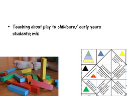 Teaching about play to childcare/ early years students; mix 2