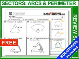 Sectors: Arcs and Perimeters (GCSE Topic Review)
