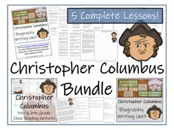 UKS2 History - Bundle of Activities about Christopher Columbus