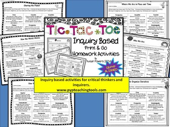 An Inquiry Based Tic Tac Toe Homework Packet for the IB PYP