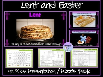 Lent and Easter: Presentation and Puzzle Pack
