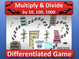 Multiply / Divide by 10, 100, 1000 Game