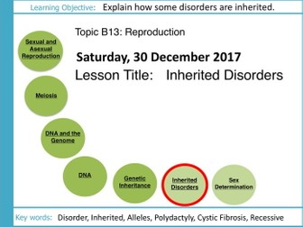AQA GCSE: B13 Reproduction: L8 Inherited Disorders