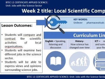BTEC Applied Science - Local Science Companies