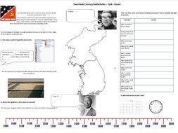 BBC Twentieth Century Battlefields - Ep4 - Korea - Worksheet to support the BBC Documentary