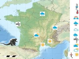 Map Of France Weather.Interactive Weather Map Of France By Paahoare Teaching Resources