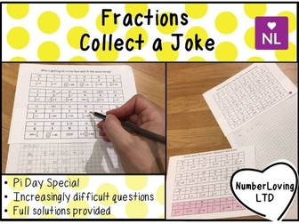 Fractions of Amounts (Collect a Joke, Math Pi Day Special)