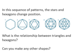 Inscribing polygons in circles, patterns with polygons