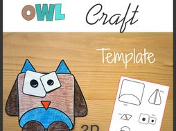Owl Craft - Template Cut and Paste