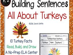 Building Sentences Writing Center: All About Turkeys