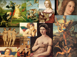 Renaissance Art History Artists ~ 15 Cards Flash Review ~  Public Domain Art
