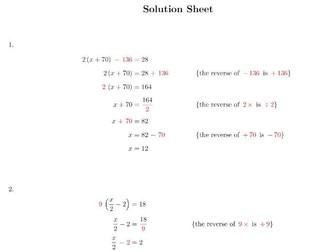 solving linear equations resources tes. Black Bedroom Furniture Sets. Home Design Ideas