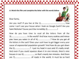 Arthur christmas a letter to santa by smartenglish teaching arthur christmas a letter to santa spiritdancerdesigns