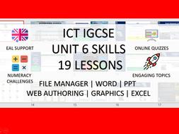 ICT PRACTICAL SKILLS - UNIT 6 EDEXCEL IGCSE